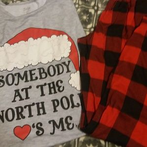 "Justice ""Somebody at the North Pole ❤'s Me"" PJ Set"
